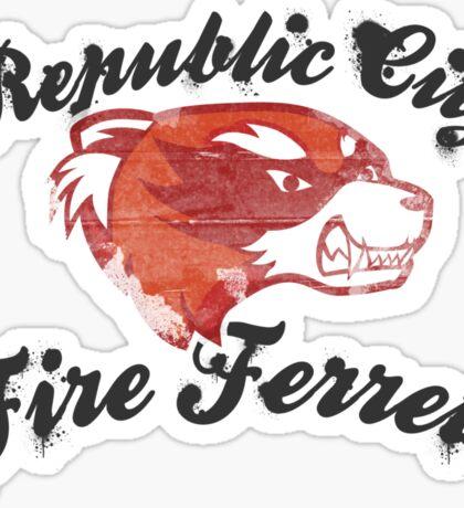 Fire Ferrets Street Shirt Sticker