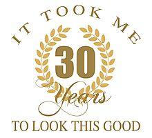 Good Looking 30th Birthday Photographic Print