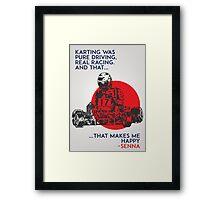 Senna Karting Framed Print