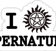 I LOVE SUPERNATURAL Sticker