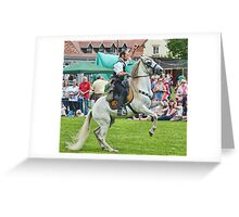 White Horse  -   Charmouth Fun Day, Dorset. Uk Greeting Card