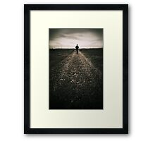 The desolate way Framed Print
