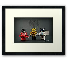 Little Bots Framed Print