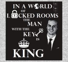 The man with the key is king. Kids Tee