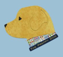 Preppy Dog Madras Golden Retriever Kids Tee