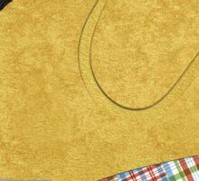 Preppy Dog Madras Golden Retriever Sticker