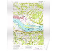 USGS Topo Map Washington State WA Washougal 244546 1961 24000 Poster