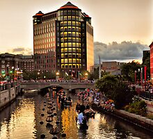 Providence Awaiting WaterFire by Mitchell Grosky