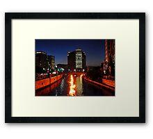 Providence WaterFire Framed Print