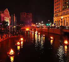 Providence, Rhode Island WaterFire by Mitchell Grosky