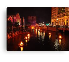 Providence, Rhode Island WaterFire Canvas Print
