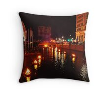Providence, Rhode Island WaterFire Throw Pillow