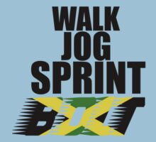 Walk, Jog, Sprint, BOLT! Baby Tee