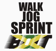 Walk, Jog, Sprint, BOLT! Baby Tee