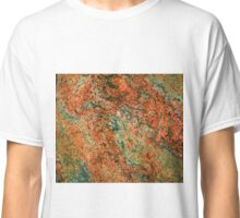 Brown marble stone grain abstract pattern Classic T-Shirt