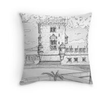 iPad case, Ipad deflector. Torre de Belém Throw Pillow