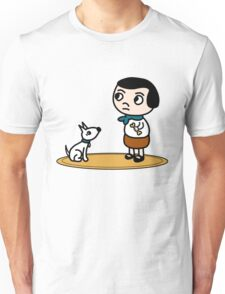 Girl and dog Unisex T-Shirt