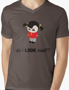 Angry Girl Mens V-Neck T-Shirt