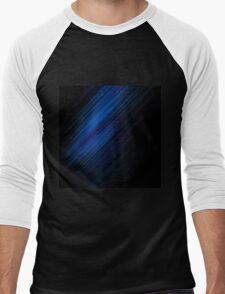 Wallpaper  Line Shadow Blue Black Men's Baseball ¾ T-Shirt