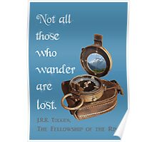 Not all Those who Wander are Lost, Tolkien, LOTR (plain background) Poster