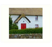 The Irish Thatched Cottage Art Print