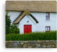 The Irish Thatched Cottage Canvas Print