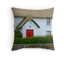 The Irish Thatched Cottage Throw Pillow