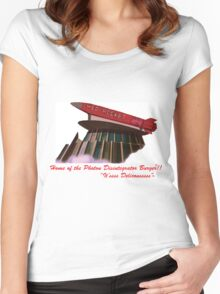 red rocket drive in Women's Fitted Scoop T-Shirt