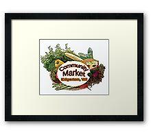 Community Market Framed Print