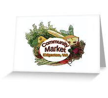 Community Market Greeting Card