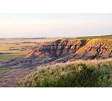 Badlands National Park at Sunrise Photographic Print