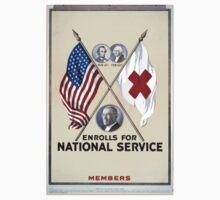 blank enrolls for national service Members Baby Tee