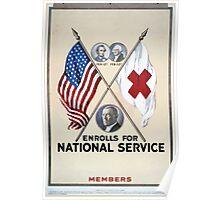 blank enrolls for national service Members Poster
