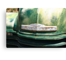 Route 66 - Old Green Chevy Canvas Print