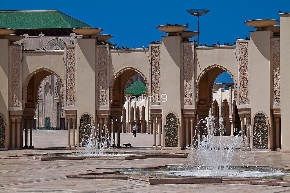 Morocco. Casablanca. Hassan II Mosque. Fountains. by vadim19