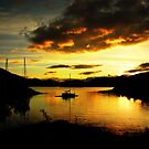 """SUNSET OVER LOCH LEVEN"" by snapitnc"