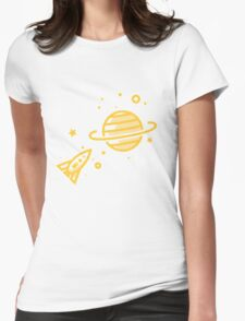 Go Saturn Motive Womens Fitted T-Shirt