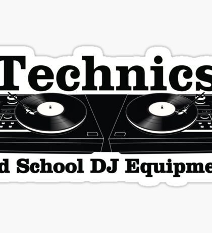 Technics Black Sticker