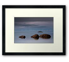 ballycotton rocls - co. Cork Ireland Framed Print