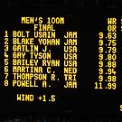 The Scoreboard - Olympic Men 100 M by dsimon