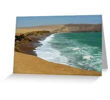 Paracas coast Greeting Card