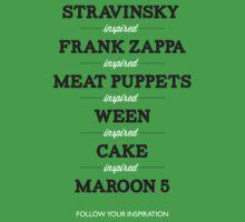 From Stravinsky to Maroon 5 by stringdaydreams