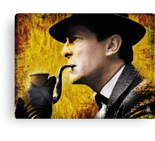 sherlock with pipe Canvas Print