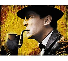 sherlock with pipe Photographic Print