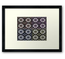 Mid Century Color Wheels, Floral Framed Print