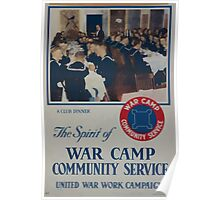 The spirit of war camp community service1 002 Poster