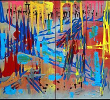 Jersey Shore - Colorful Abstract Art by Laura Barbosa