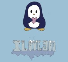 "Penguin says: ""I love you"" by IanPeriwinkle"