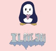 "Penguin says: ""I love you"" One Piece - Short Sleeve"