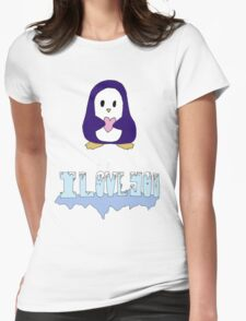 "Penguin says: ""I love you"" Womens Fitted T-Shirt"